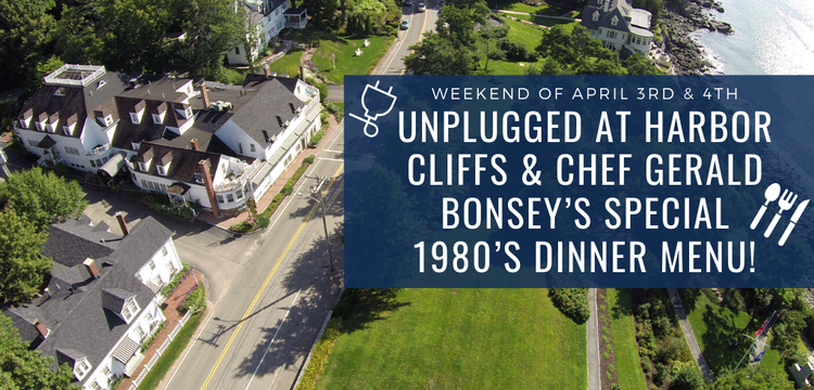 Key image for: Unplugged at Harbor Cliffs, 1980's Dinner Menu!