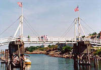 Perkins Cove Footbridge Drawbridge - Ogunquit Maine