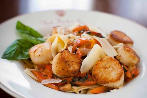 Maine Scallop and Pasta York Harbor Inn, Maine Dining