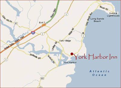 Map Of New York Harbour.York Harbor Inn York Harbor Maine Map And Directions York